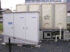 井戸水タンクと1台目のRO装置